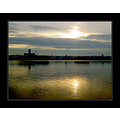 sunrise seascape landscape silhouette reflection liverpool wirral golden sky