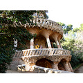The outer wall of Park Guell......not a straight line to be found!
