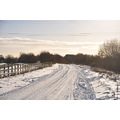 Country lane snow landscape