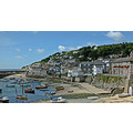 Mousehole Cornwall UK Harbour Boat Moored Sea Coast