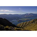 Lake Wanaka from Mt Roy looking across Glendhu Bay at Mt Aspiring (center)