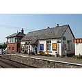 england somerset blueanchor railways trains architecture people