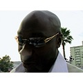 Michael Clarke Duncan came too close lens got foggy from his nose