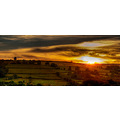Autumn sunset from the golden valley in herefordshire looking towards hay bluff