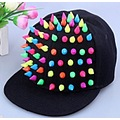 New Hot Colorful Plastic Rivet Punk Style Baseball Cap Men Women