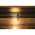 orewabeach orewa beach sunrise walking silhouette