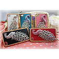 Peacock bling Hard Leather Case Cover for iPhone