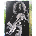 painting portrait Jimmy Page Jimmypage led zepellin musician guitar