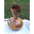 vase woodburn handpainted gourds stoneakin leaf leaves