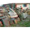 anaglyph 3D STEREO ROCKS GARDEN COLLECTION VINTAGE ANTIQUE