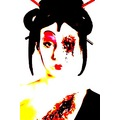 geisha portrait woman hardcore horror people face keitology keit
