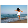 girl woman wife fun dance beach sea vacation