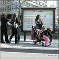 luxembourg people streetphotography woman child busstop