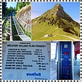 Moleson funicular railway Gruyeres Switzerland collage