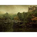 castle horse selfportrait forrest hills bridge lake montage fantasy