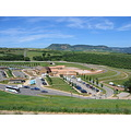 Millau Bridge Aire Car Park Southern France Europe Vehicles Pastoral 2009