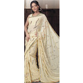 Fawn Faux Georgette Saree with Blouse
