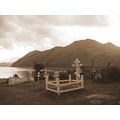 the cemetary at the russian orthodox church, dutch harbor/unalaska, alaska