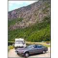 car bmw cliff norway nature road vehicles cars granvin fjord