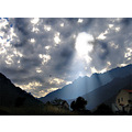 corsica angel rays dramatic sky clouds mountains magical light atmosphere