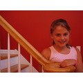 Ally cat, just a different pose on the stair case....