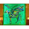Colorful Horse Art Wings Mintgreen Yellow Blue Copenhagen June 2011