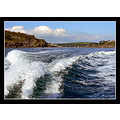 sea blue surf waves boat cornwall