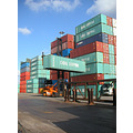 rotterdam harbour containers colors transport holland