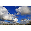 amman city blue sky white clouds