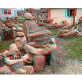 anaglyph3D Stereo collection garden rocks stones