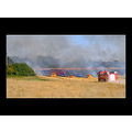 fire fireengine field hay grass flame red smoke farm firetruck action
