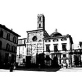 lucca italy toscana church art black and white