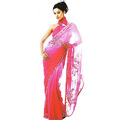Pink Georgette Saree with Blouse
