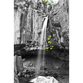 bw black white hedge creek falls waterfall dunsmuir california