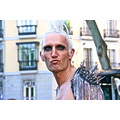 Men Man Gay Pride GayPride Spain Madrid Makeup Eyes Pout Mohawk Platinum