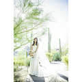 Plus dimension wedding ceremony dresses has flattering rouching more than the bust and broad shou...
