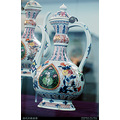 Qing china export porcelain Chinaware exhibition antique flagon