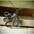 necklace jewelry vintage necklace octopus necklace
