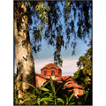 church greece colors tree frame