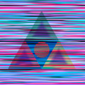 design graphic digital triangles lines circle geometry rave
