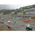 0159 Cornwall Looe UK River Sea Coast Boat Moored