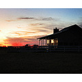 sunset old farm house country grainy picture