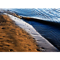 colours light danube river wave sand