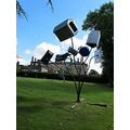 """12. A """"load of rubbish"""" by Dennis Oppenheim with Bretton Hall in the background!"""