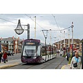 england blackpool vehicles trams architecture landscape