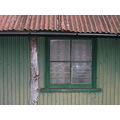 Church window corrugated iron