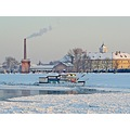 Osijek croatia river Drava ice