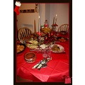 christmas time petzka table red candle