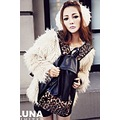 Hot Sale Leopard Print Rivet Rock Style Backpack High Capacity Packsack Free Shi