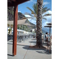 2008 portugal madeira calheta artificial beach south coast sand sea cafe people